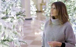 First Lady Melania Trump's Incredibly Beautiful White House Christmas Display; It Even Has a Nativity!