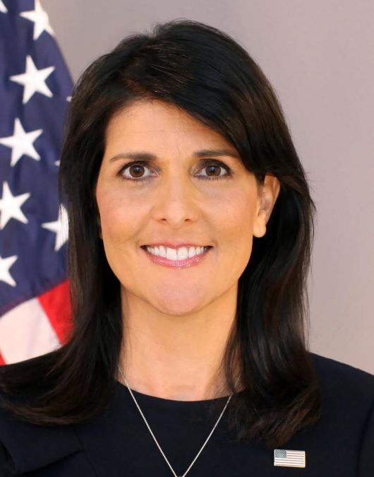 UN Ambassador Nikki Haley Announces She'll Be Leaving Her Position at Year's End