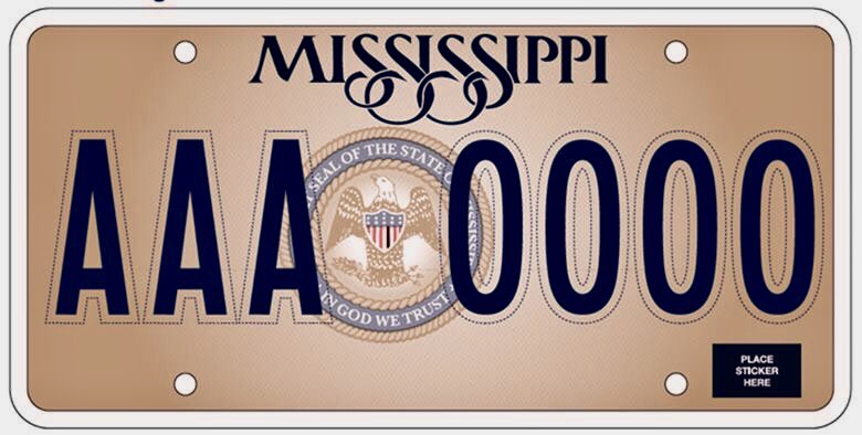 Mississippi License Plate Gets Makeover This Year with 'In God We Trust'