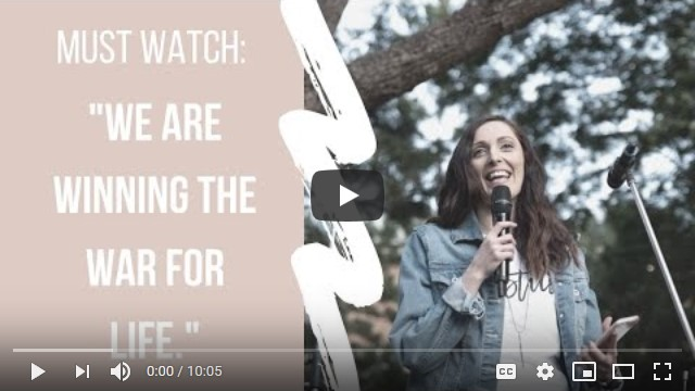 """Must Watch Video – WE ARE WINNING THE WAR FOR LIFE"""" – Christy Johnston"""