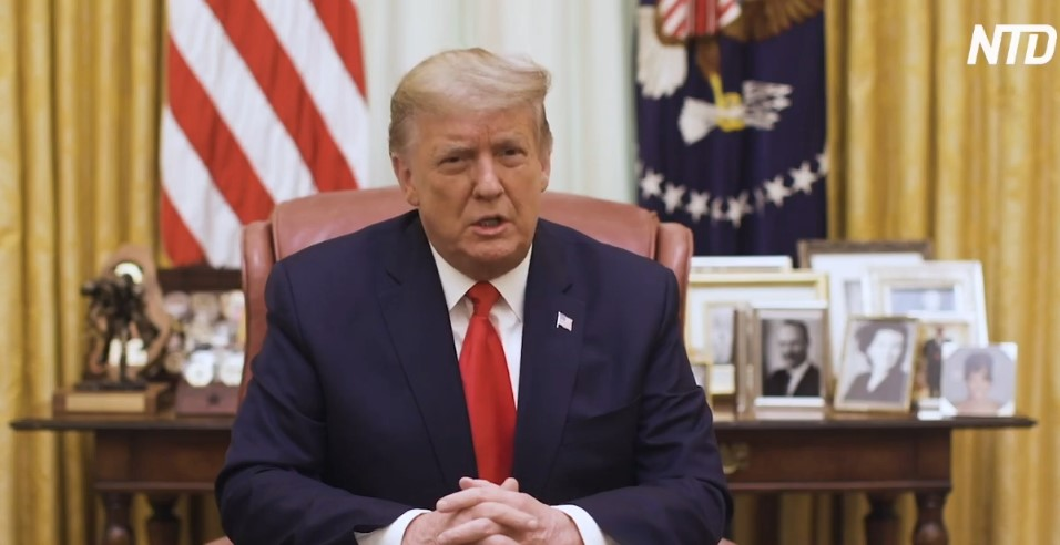 Trump Calls on Americans to Promote Peace Amid Reports of Planned Demonstrations